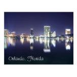 Orlando, la Florida en la noche según lo visto del Postales