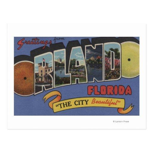 Orlando, la Florida - escenas grandes de la letra Tarjeta Postal