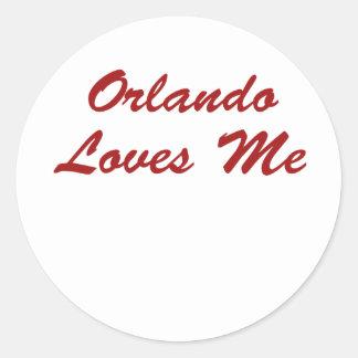 ¡Orlando me ama!!! Pegatina Redonda