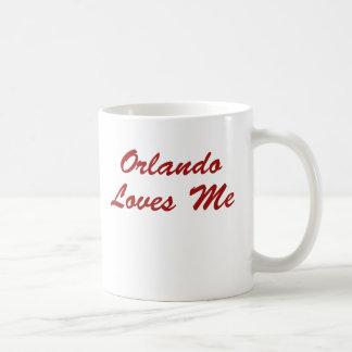 ¡Orlando me ama!!! Taza