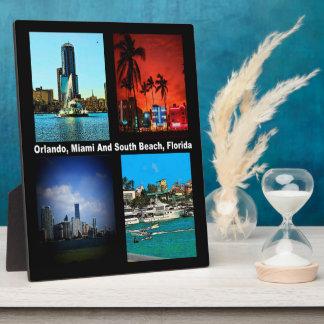 Orlando, Miami, collage del sur de la playa Placas Para Mostrar