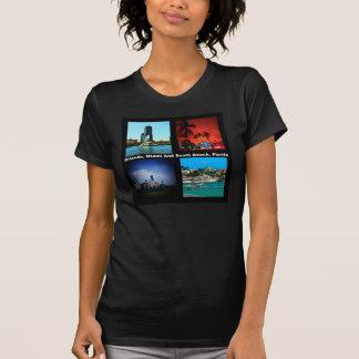 Orlando, Miami, collage del sur de la playa Camiseta