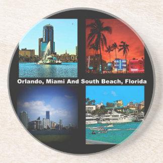 Orlando, Miami, collage del sur de la playa Posavasos Diseño
