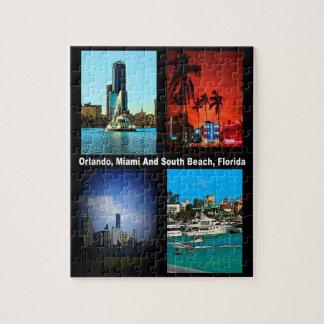 Orlando, Miami, collage del sur de la playa Puzzle Con Fotos