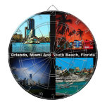 Orlando, Miami, South Beach Collage Dart Board