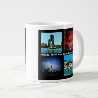 Orlando, Miami, South Beach Collage Giant Coffee Mug