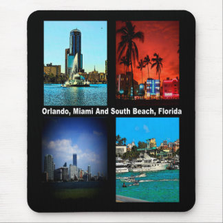 Orlando, Miami, South Beach Collage Mouse Pad