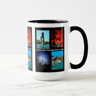 Orlando, Miami, South Beach Collage Mug