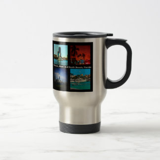 Orlando, Miami, South Beach Collage Travel Mug