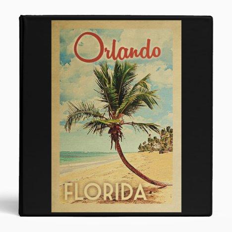 Orlando Palm Tree Vintage Travel 3 Ring Binder
