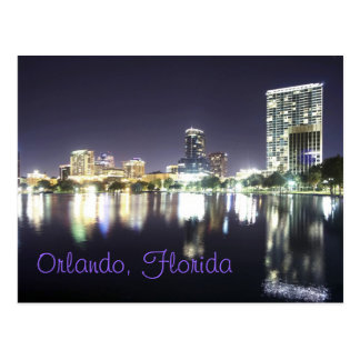 Orlando reflections from across Lake Eola. Postcard