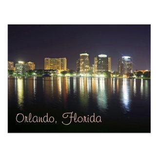 Orlando reflections from Lake Eola Postcard