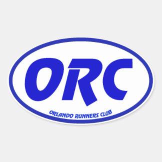 Orlando Runners Club Euro Decal Oval Sticker