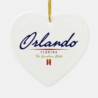 Orlando Script Ceramic Ornament
