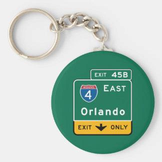 Orlando, señal de tráfico de FL Llavero Redondo Tipo Pin