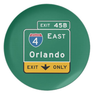 Orlando, señal de tráfico de FL Platos