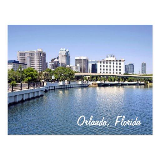 Orlando skyline from Lake Lucerne Postcards