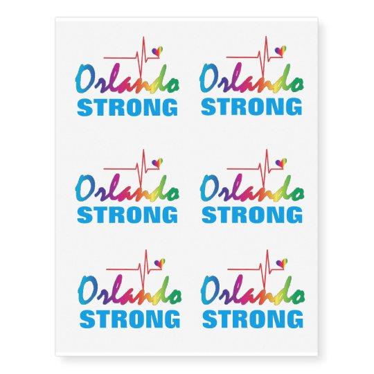 Orlando Strong Rainbow Pulse Heart LGBT Medium Temporary Tattoos ...