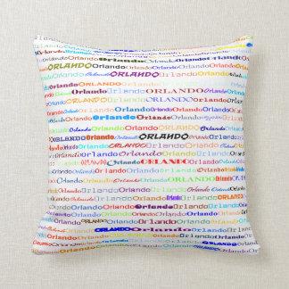 Orlando Text Design II Throw Pillow