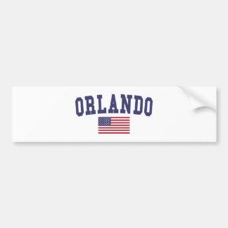 Orlando US Flag Bumper Sticker