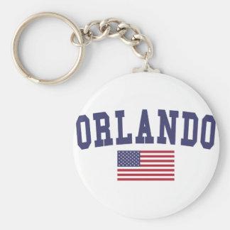 Orlando US Flag Keychain