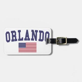 Orlando US Flag Luggage Tag