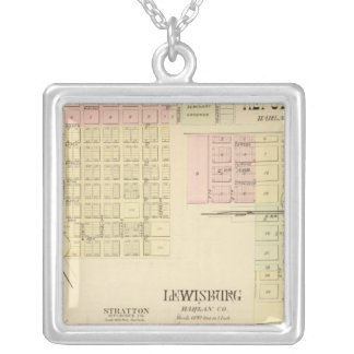 Orleans and Republican City, Nebraska Silver Plated Necklace