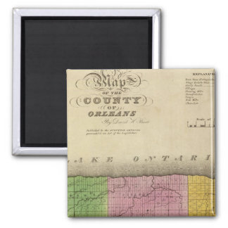 Orleans County 2 Inch Square Magnet