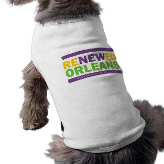 Orleans renovada camisas de mascota