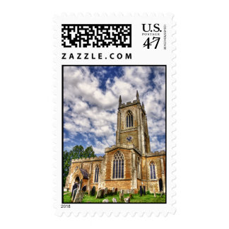 Orlingbury church HDR art postage stamps