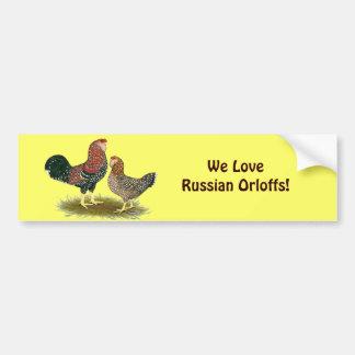 Orloff:  Spangled Pair Bumper Sticker