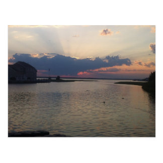 Orltey Beach bayfront Postcard