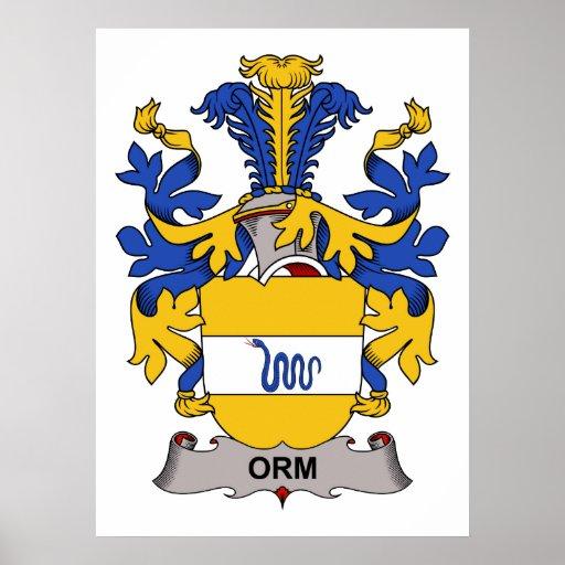 Orm Family Crest Print