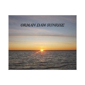 Orman Dam Sunrise Gallery Wrap Canvas