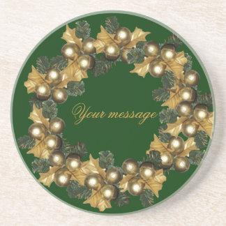 Ormanent wreath~round drink coaster