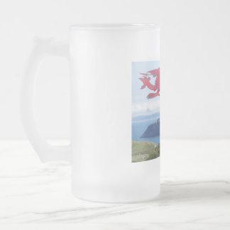 Orme Dragon 16 Oz Frosted Glass Beer Mug