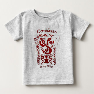 Ormhäxan Snake Witch Rune Baby T-Shirt