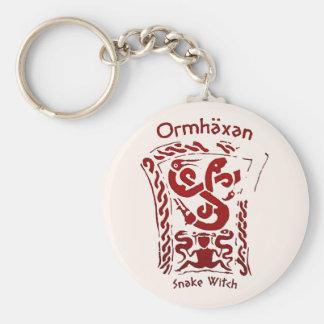 Ormhäxan Snake Witch Rune Basic Round Button Keychain