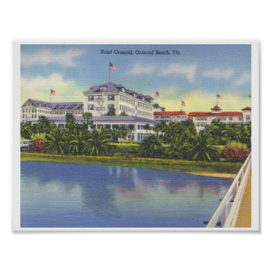 Ormond Hotel Beach Florida Poster