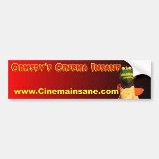 Ormsby's Cinema Insane Bumper Sticker Car Bumper Sticker
