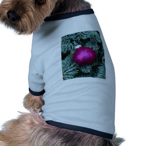 Orn púrpura camiseta con mangas para perro