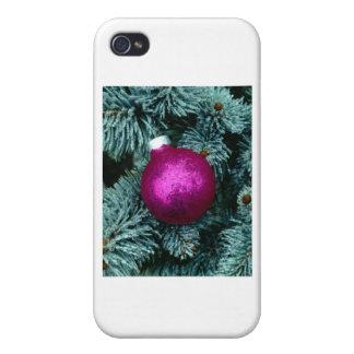 Orn púrpura iPhone 4/4S fundas