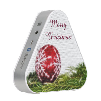 Ornament and Fir Fractal - Merry Christmas Bluetooth Speaker
