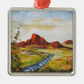 Ornament Ann Hayes Painting Red Rock Canyan