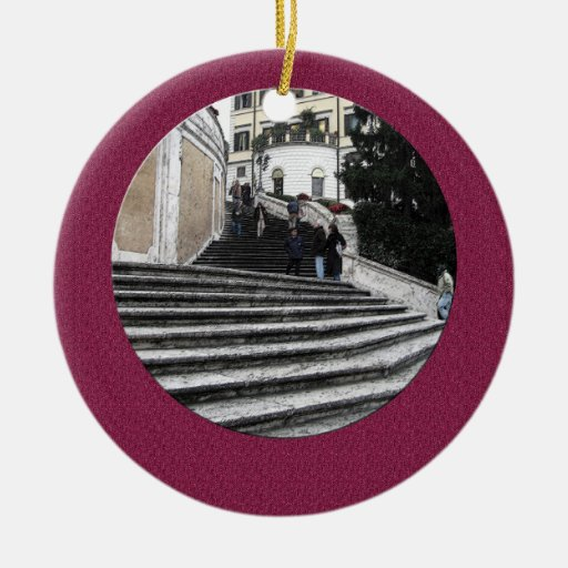 Ornament - At the Spanish Steps (textured back)
