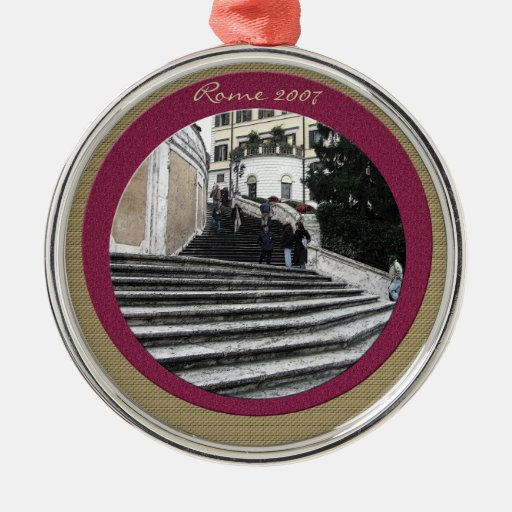 Ornament - At the Spanish Steps (textured borders)