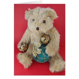 ornament bear Christmas card