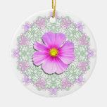 Ornament - Bi-Color Cosmos on Lace