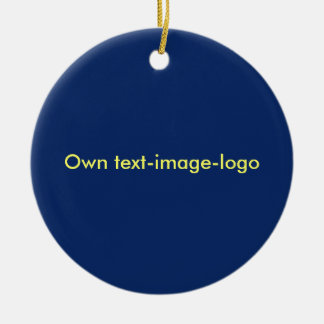 Ornament blauw rond