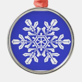 Ornament Blue Snow Flake
